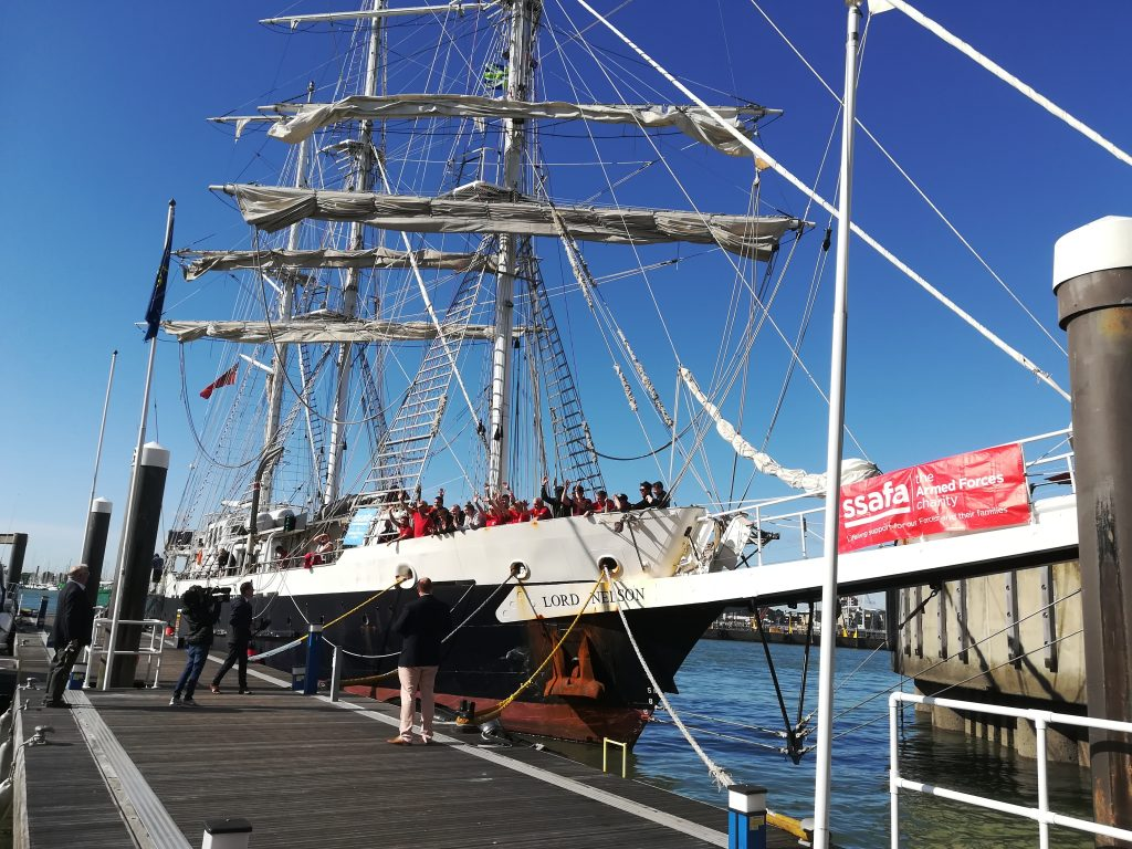 Lord Nelson voyage in partnership with SSAFA The Armed Forces Charity