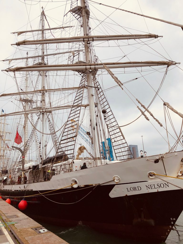 STS Lord Nelson comes home to Southampton
