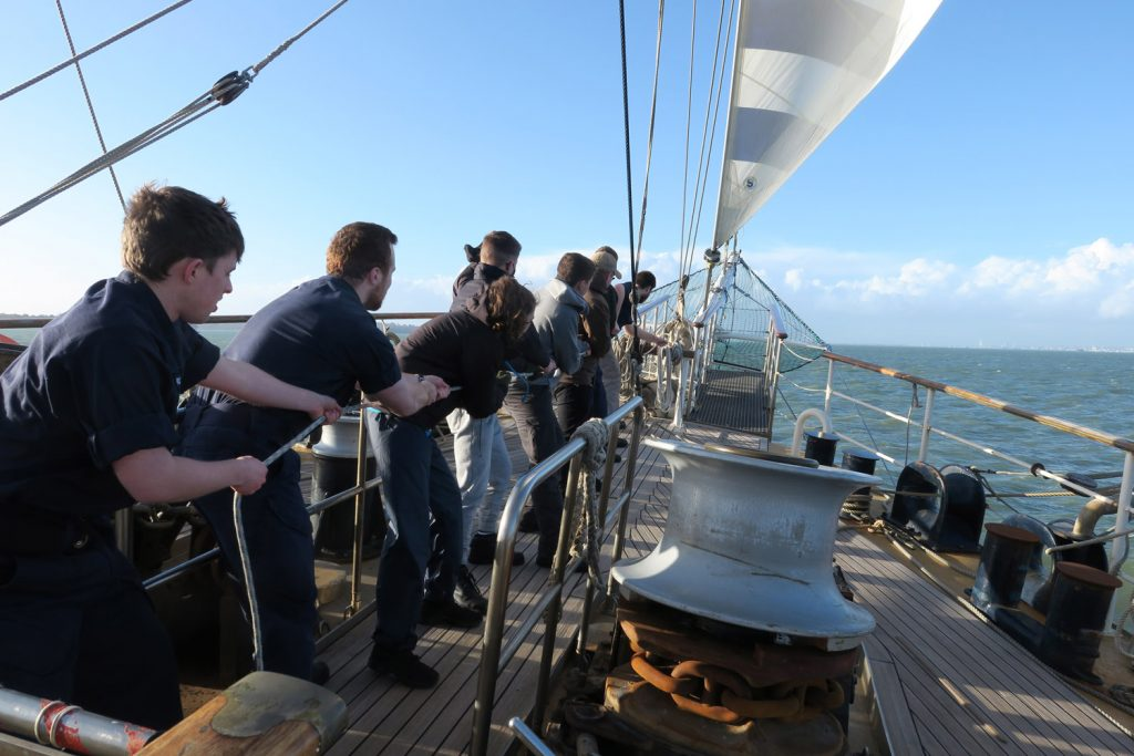 Royal Navy revives days of sail with training on Tenacious