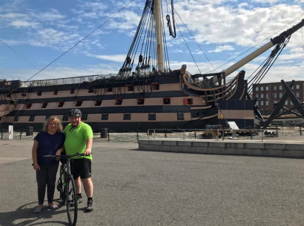 Former marine takes on mammoth cycle from Portsmouth to raise money for global sailing charity